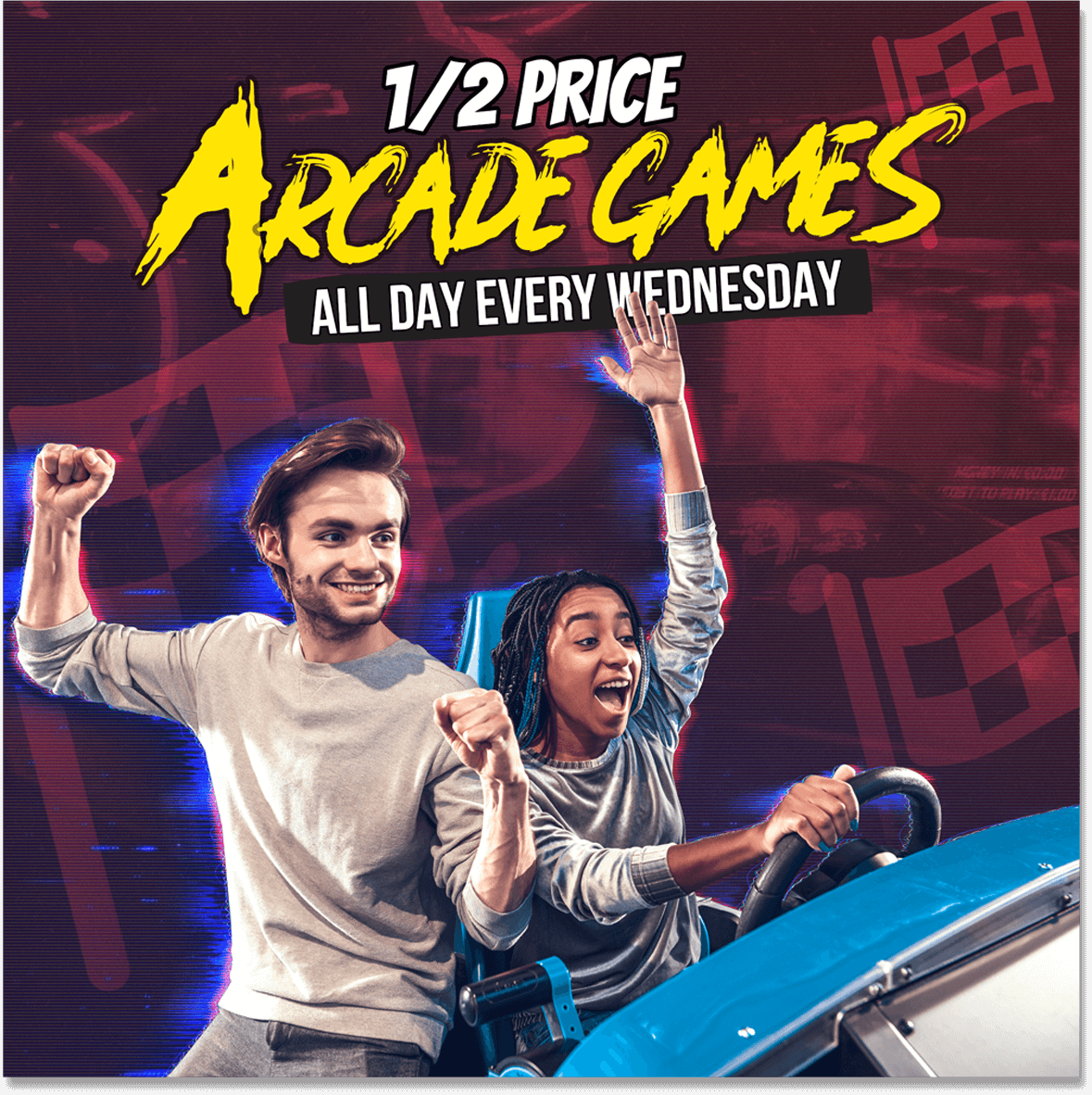 Wednesday 1/2 Price Arcade Games