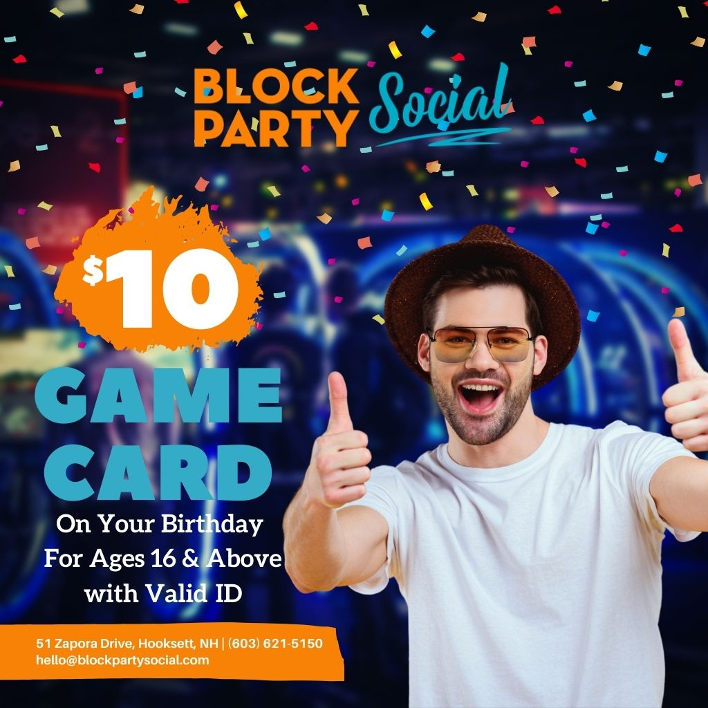 $10 Game Card On Your Birthday